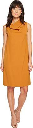 Anne Klein Women's Madison Crepe Cowl Neck Sheath Dress