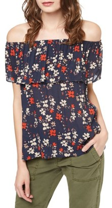 Women's Sanctuary Misha Print Off The Shoulder Top $79 thestylecure.com