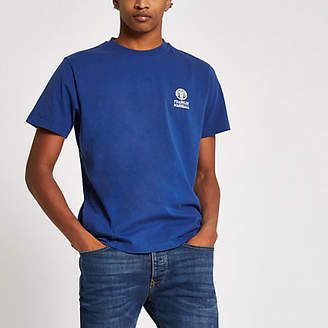 River Island Franklin and Marshall blue chest logo T-shirt