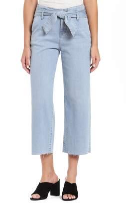 Mavi Jeans Cristin Tie High Waist Crop Wide Leg Jeans