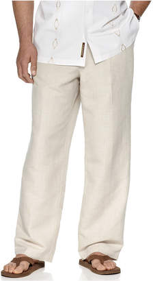 "Cubavera Big and Tall Drawstring Linen-Blend 32"" Length Pants"