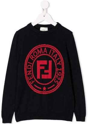 Fendi jacquard FF logo sweater