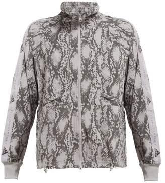 adidas by Stella McCartney Snake Print Performance Jacket - Womens - Grey