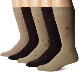 Dockers 5 Pack Classics Dress Dobby Crew Socks