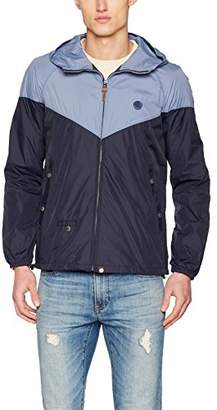 Pretty Green Mens Contrast Colour Wind Runner Jacket Coat