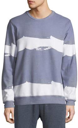 Sol Angeles Men's Border Wave Striped Sweatshirt