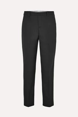 Miu Miu Sequin-embellished Wool-blend Straight-leg Pants - Black