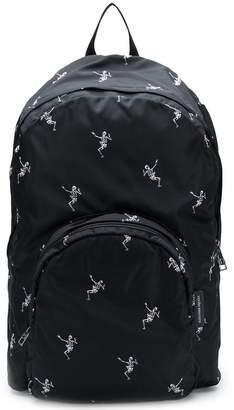 Alexander McQueen Dancing Skeleton print backpack