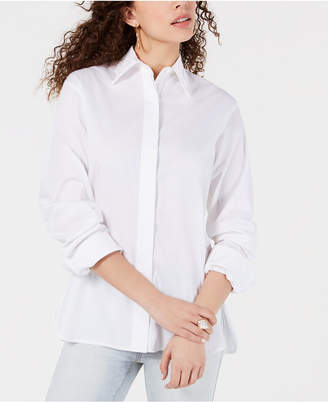 KENDALL + KYLIE Cotton Cutout-Back Shirt