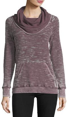 Allen Allen Cowl-Neck Waffle-Knit Sweater $75 thestylecure.com