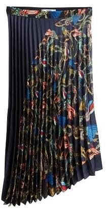 MANGO Scarf print pleated skirt