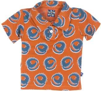 Kickee Pants Fiery Phoenix Polo - Orange, Size 3-6m
