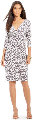 Lauren Ralph Lauren Printed Jersey Surplice Dress $109 thestylecure.com