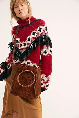 Fp Collection O-Ring Faux Shearling Tote