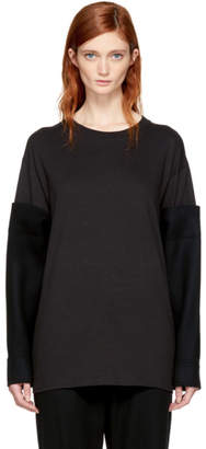 Yohji Yamamoto Black Hybrid T-Shirt