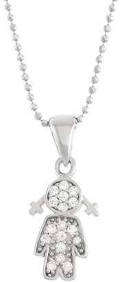 5th & Main 5th and Main Sterling Silver Female Figure with CZ Stones Pendant Necklace