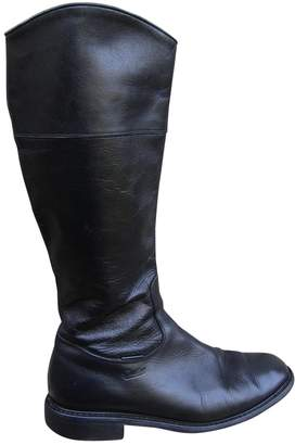 Paraboot Black Leather Boots