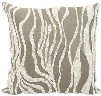 Nourison Mina Victory Luminescence Beaded Zebra Pillow, 18x18