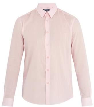 Vilebrequin Point Collar Cotton Voile Shirt - Mens - Pink