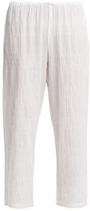 Skin - Nicolette Textured Cotton Pyjama Bottoms - Womens - White