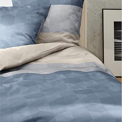 Bettwäsche 135x200 blau-beige 5767/635