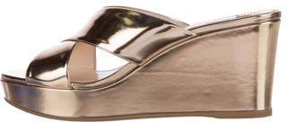 pradaPrada Metallic Wedge Sandals