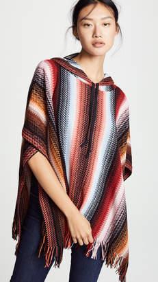 Missoni Striped Poncho Hoodie