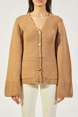 Khaite The Lucy Cardigan In Camel