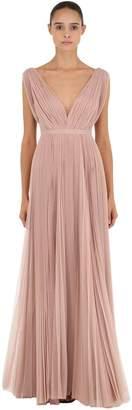 Maria Lucia Hohan Polka Dots Pleated Long Dress