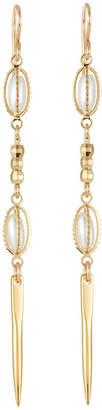 Devon Leigh Pearly & Spike Dangle Earrings