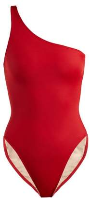 Norma Kamali Mio One Shoulder Swimsuit - Womens - Red