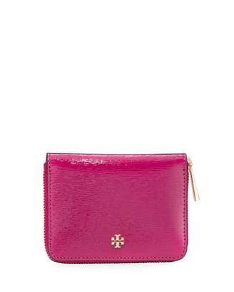 Tory Burch Robinson Patent Zip-Around Coin Case