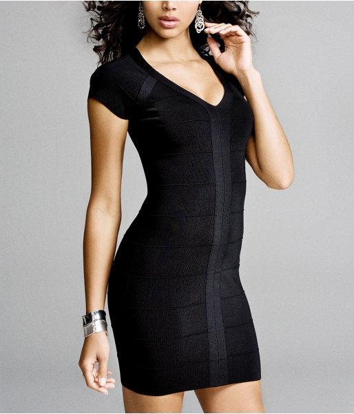 Banded Cap-Sleeve Dress