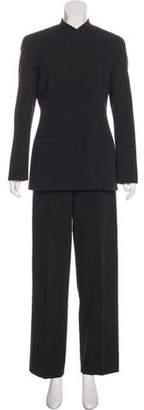 Giorgio Armani Striped Wool Pantsuit