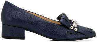 Högl studded fringe trim loafers