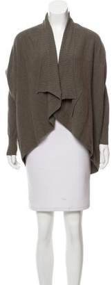 Hache Draped Three-Quarter Sleeve Cardigan