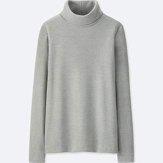Uniqlo Women's Heattech Fleece Turtleneck Long-sleeve T-Shirt