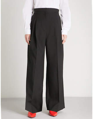 J.W.Anderson High-rise wide stretch-wool trousers
