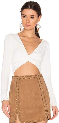 MAJORELLE Viva Bodysuit in Ivory $128 thestylecure.com