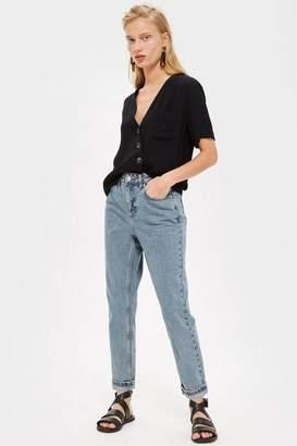 Topshop Petite Grey Blue Mom Jeans