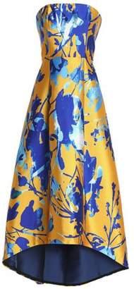Sachin + Babi Strapless Floral-Print Duchesse Satin-Twill Gown