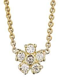 Jennifer Meyer Women's White Diamond Flower Charm Necklace