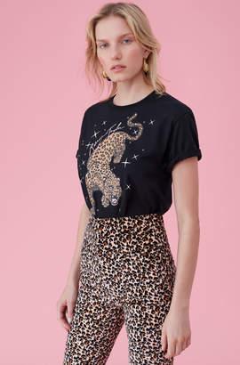 Rebecca Taylor Glitter Leopard Print Tee