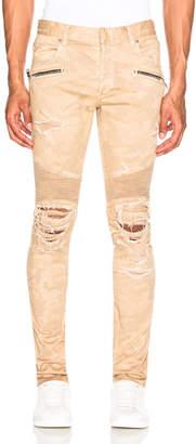 Balmain Destroyed Vintage Ribbon Pants