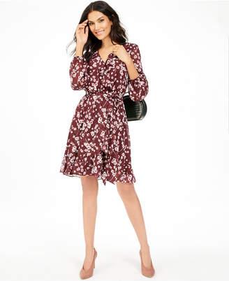 INC International Concepts I.n.c. Floral-Print Ruffle Dress