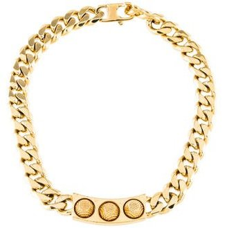 Studded ID Plate Necklace