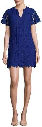 Shoshanna Women's Embroidered Mesh Shift Dress