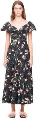 Rebecca Taylor Ikat Tulip Poplin Dress