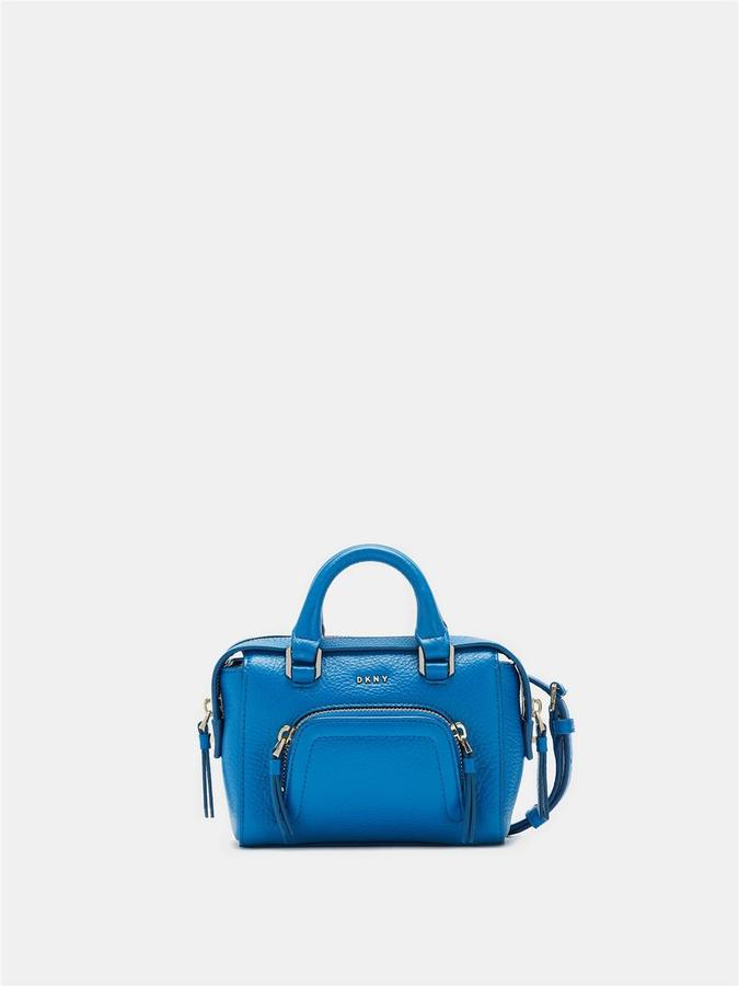 DKNY Pebbled Leather Mini Satchel