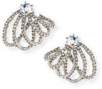 Alexis Bittar Silvertone Crystal Lace Orbiting Post Earrings